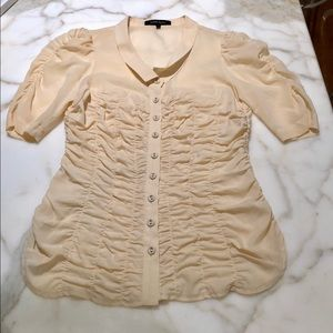 Nanette Lenore sheer rouched blouse